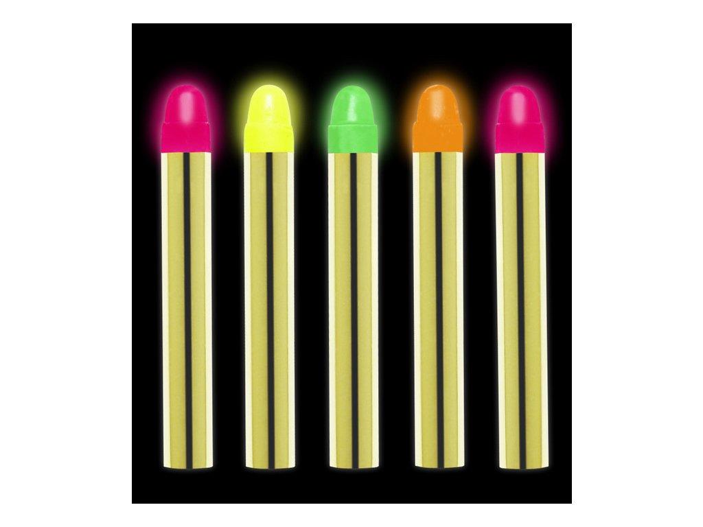 karnevalove pastelky neonove
