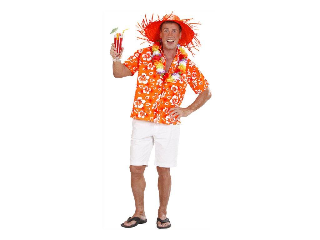 Košile Havaj - oranžová - Ptákoviny-CB e22da4ca05