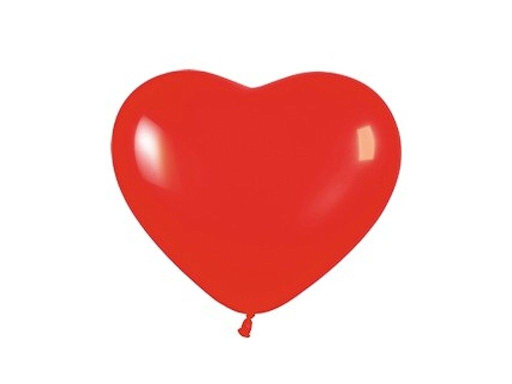 Balonek srdce cervene 23448