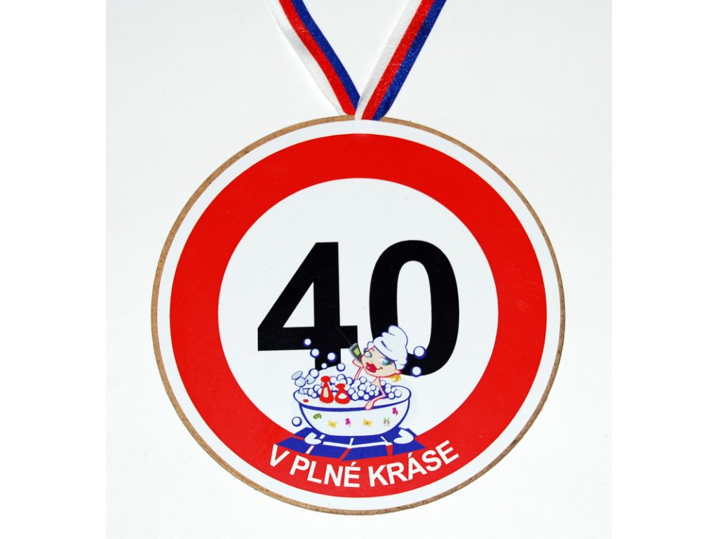 Medaile 40 zena