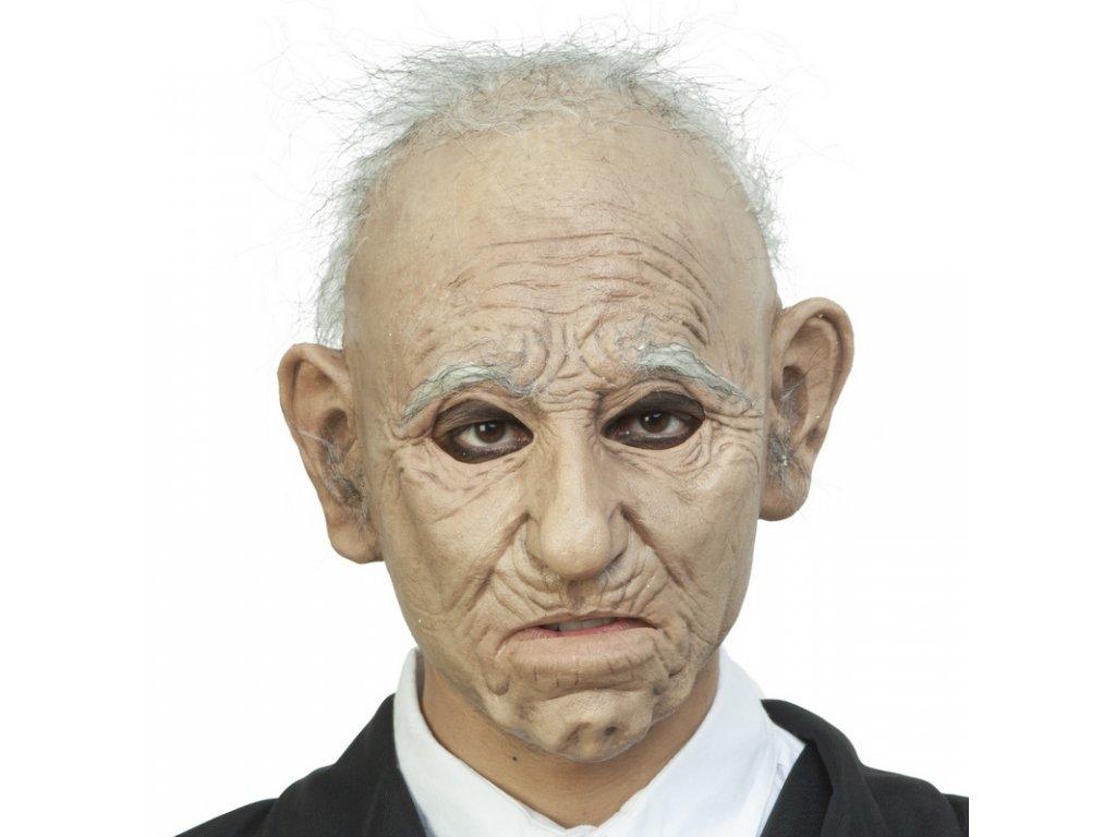 Maska starec s vlasy