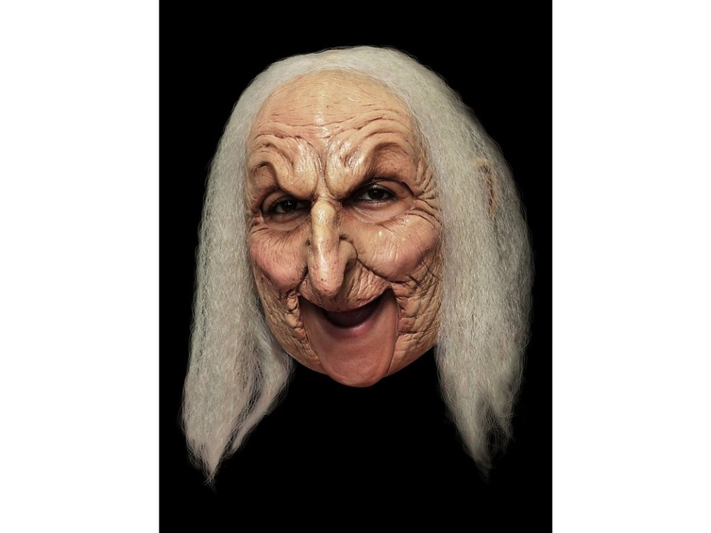 Maska zena s vlasy