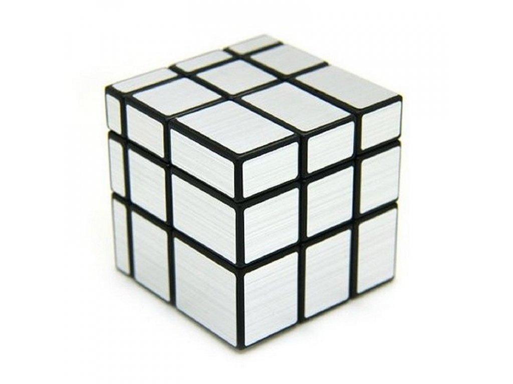 Rubikova kostka stribrna