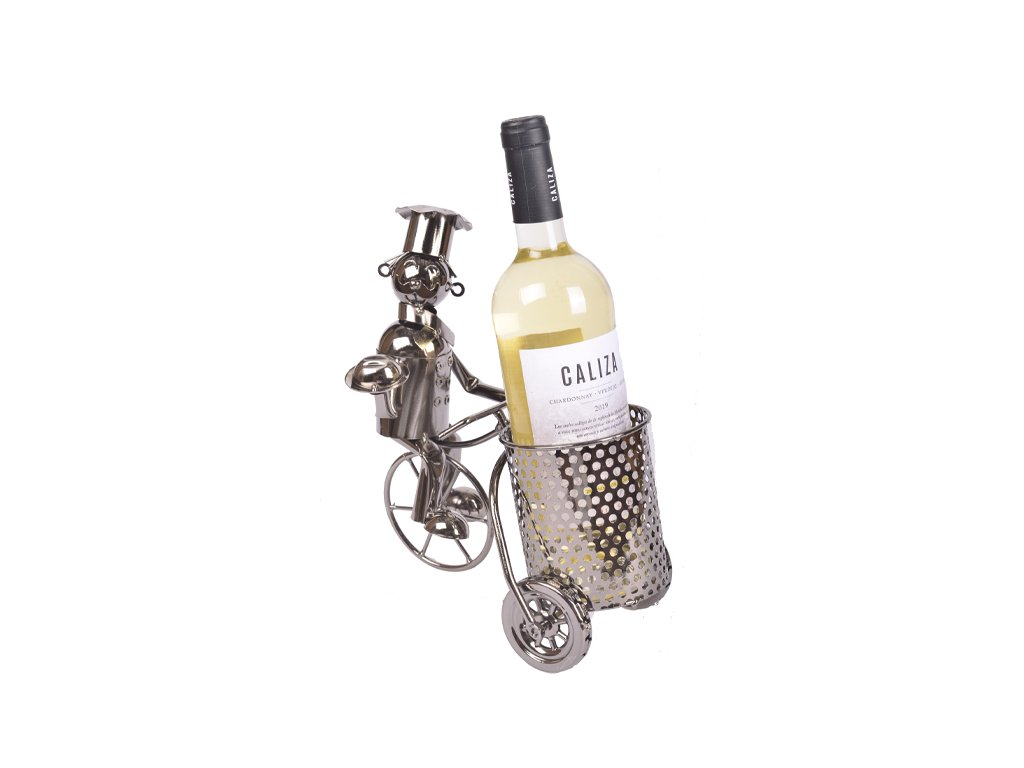 Stojan na vino kuchar s vozikem
