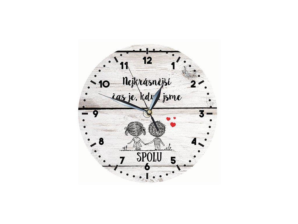 Drevene hodiny zamilovany par