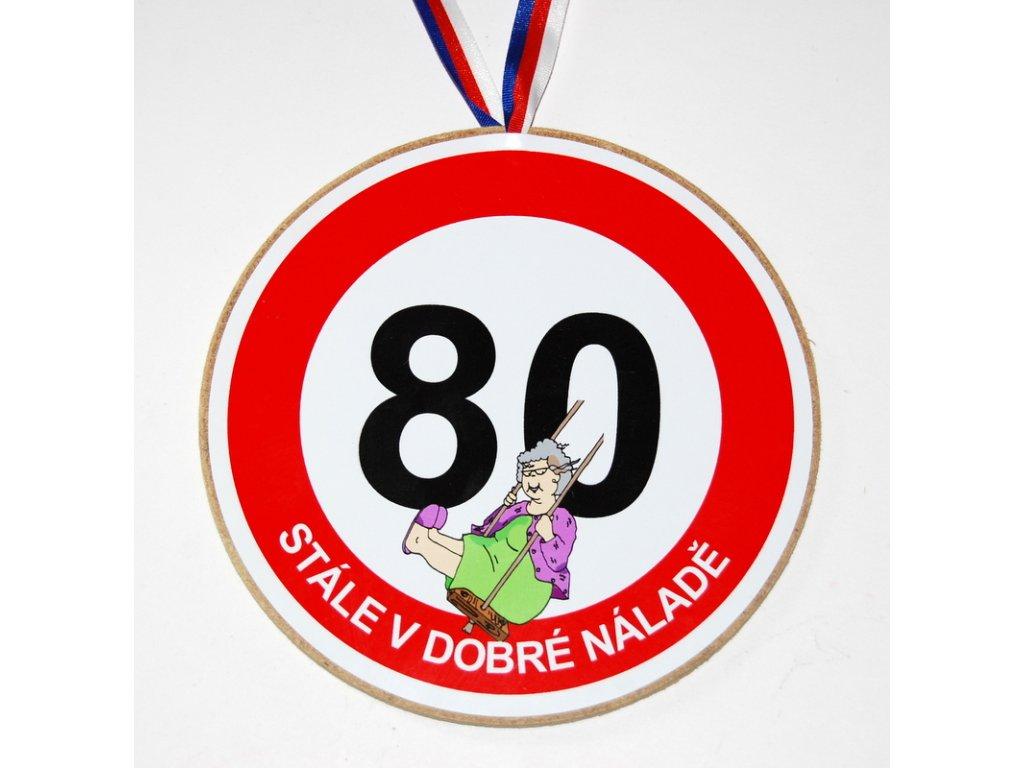 Medaile 80 zena