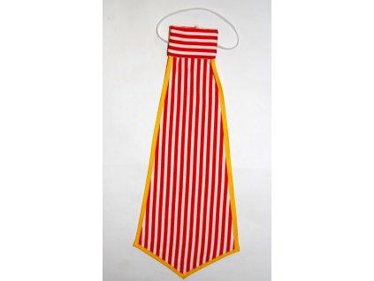 kravata klaun pruhovana