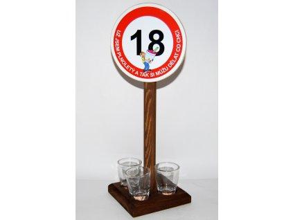 Značka se 3 panákama s výročí narozenin
