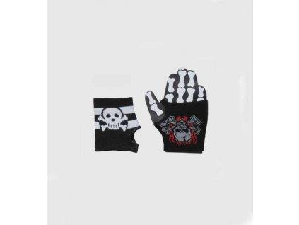 rukavice  pirat lebka