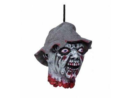 usekla hlava s kloboukem
