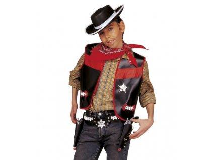kovboj vesta klobouk