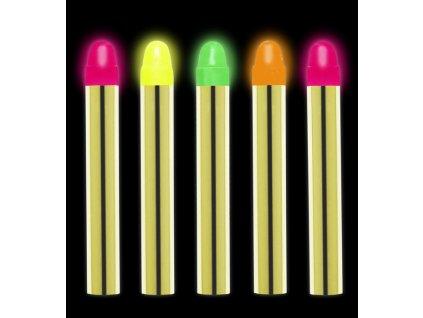 Karnevalové pastelky neonové - 5 kusů