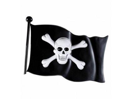 Vlajka pirát plastová 45x32