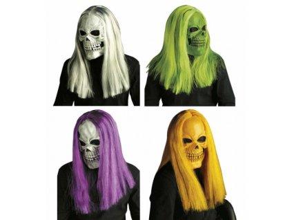 maska lebka s vlasy