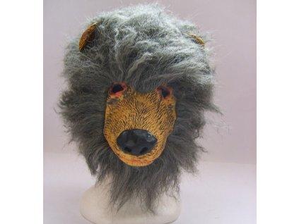 maska medved s vlasy