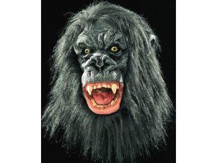 maska gorila s vlasy