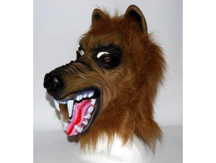 Maska vlk hnedy 8817