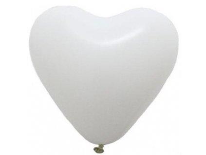 Balonek srdce bile 23447