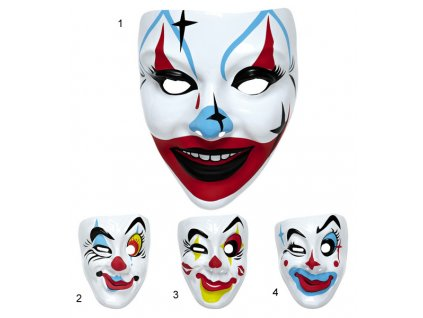 Maska klaun plast