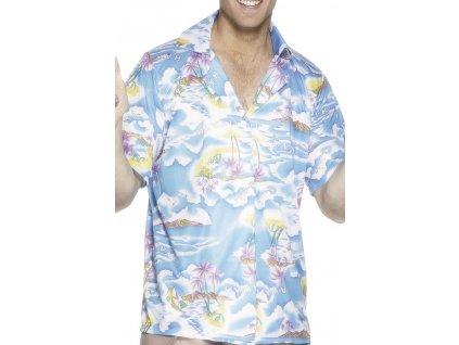 Havaj tricko modre
