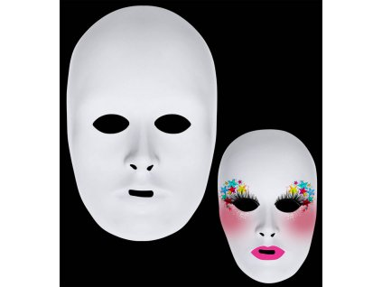 Bila maska k pomalovani