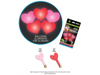 Balonky srcdce svitici