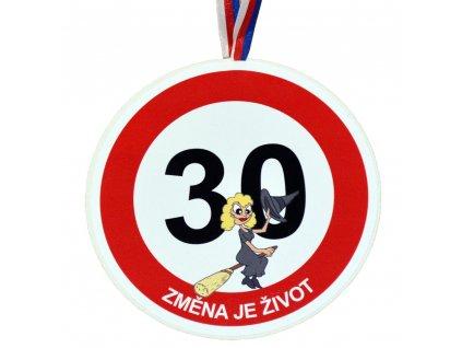 Medaile 30 zena