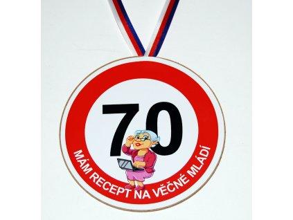 Medaile 70 zena