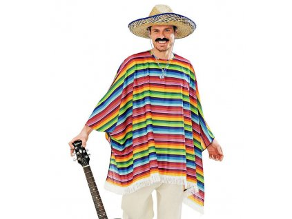 Mexicke ponco a sombrero