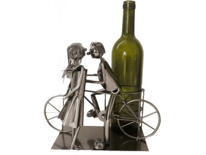Stojan na vino zamilovany par