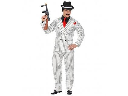 Gangster bily kostym