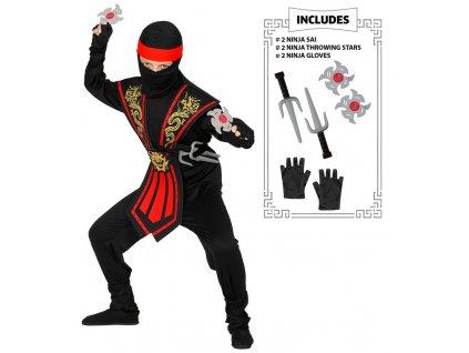 Kostym ninja se sbranemi
