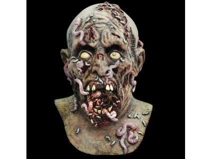 Maska zombie s cervy