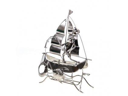 Stojan rybar na plachetnici