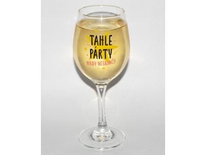 Tahle party sklenice