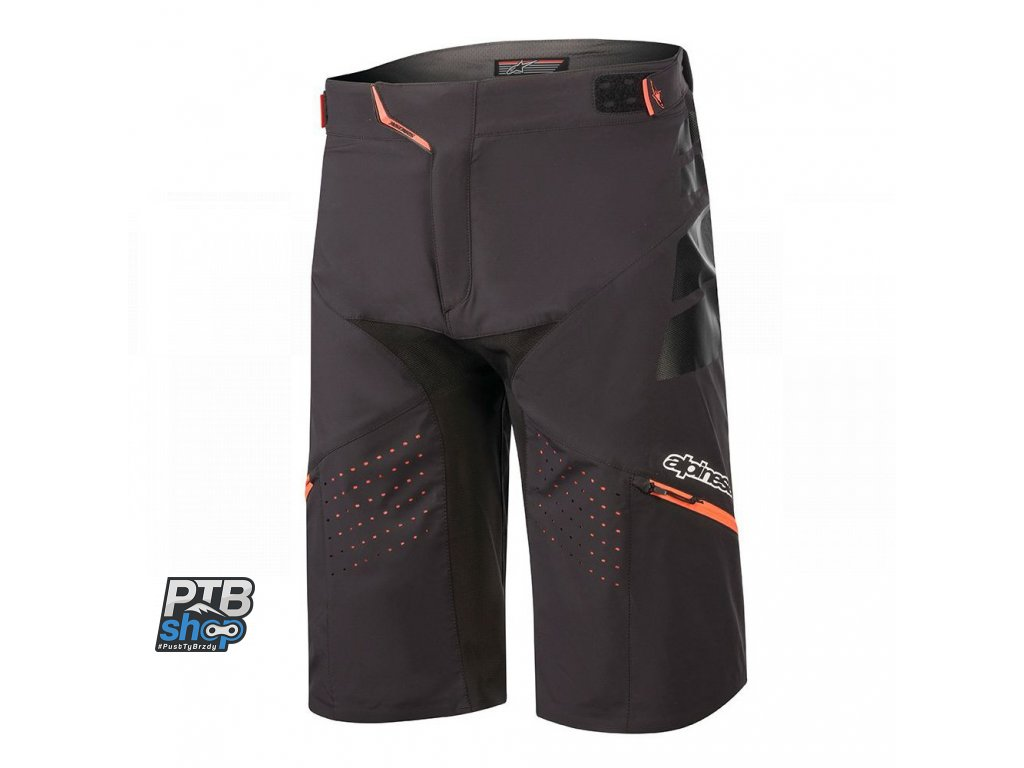 kratasy alpinestars drop pro shorts 2020 black coral 1