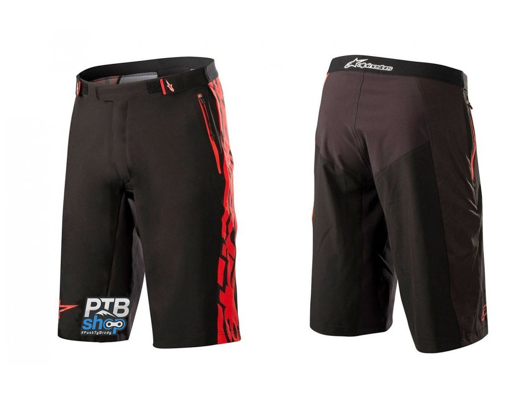 alpinestars mesa shorts black red kratasy