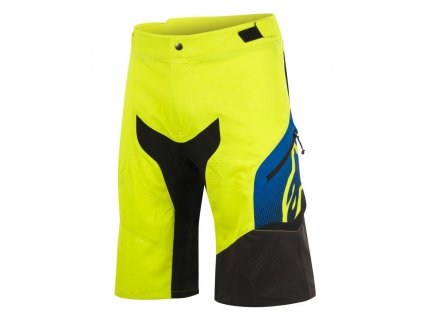 alpinestars predator shorts acid yellow royal blue kratasy