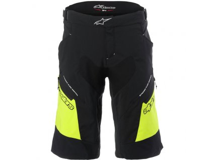 alpinestars drop 2 shorts black acid yellow