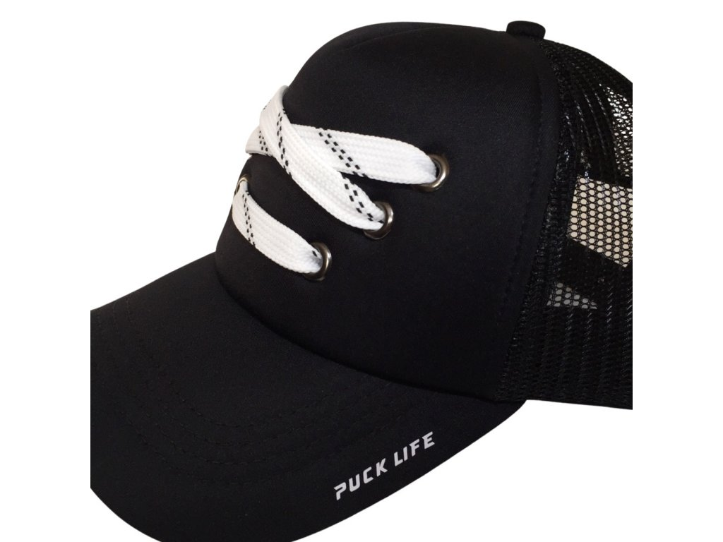 Černá kšiltovka Trucker - Laces - Puck Life hockey 5f0b3c8f27