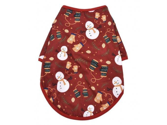 Tričko vianočné červené pre psíka