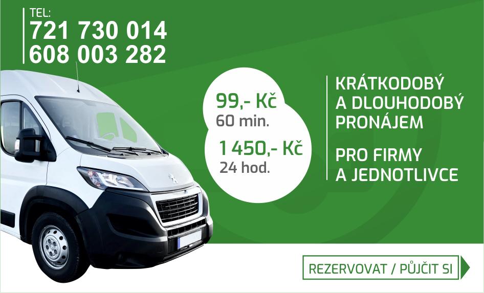 Auto půjčovna dodávek Poděbrady - Nymburk - Kolín