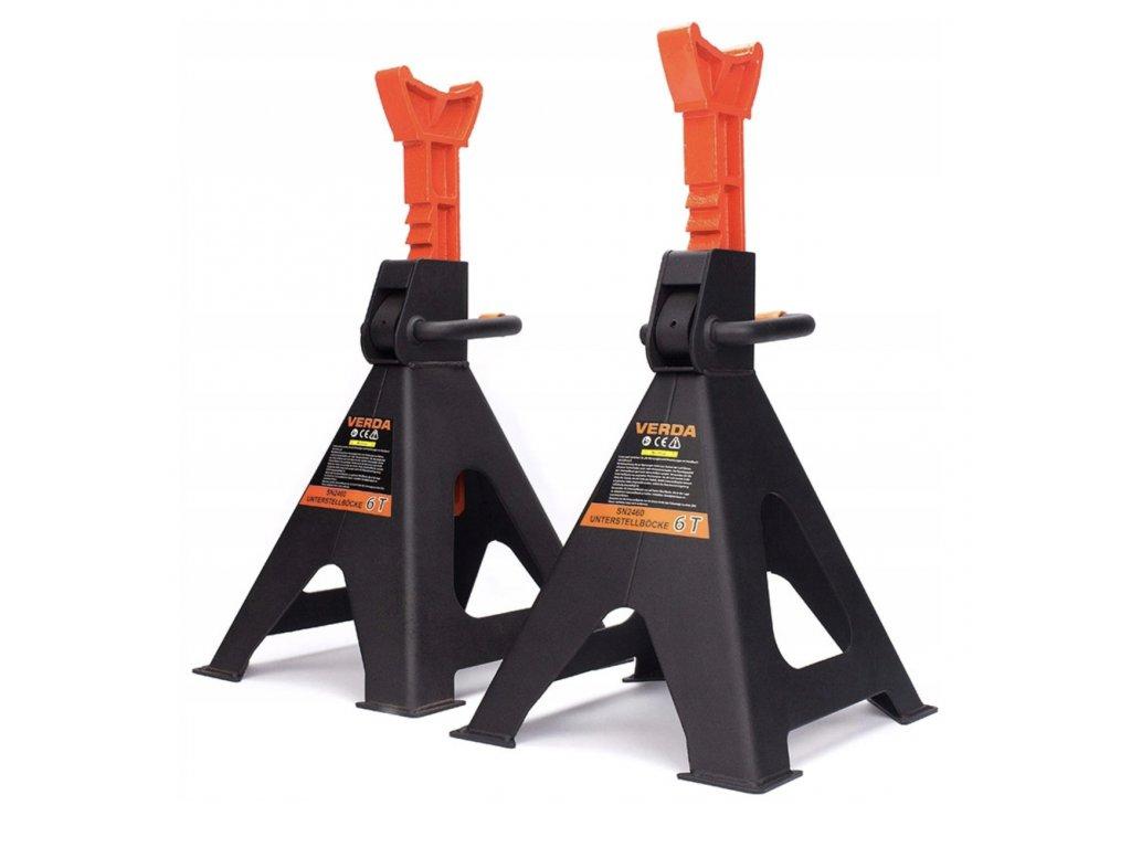 Podkládací stojánky, podpěry stavitelné 6T (2ks)
