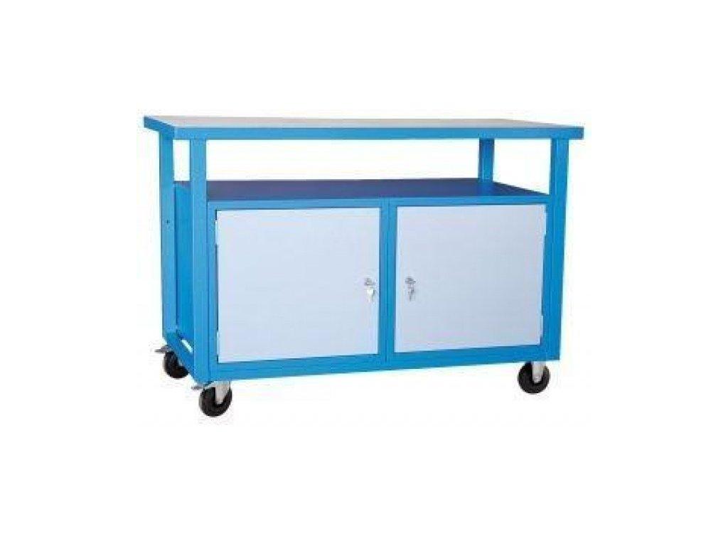 Mobilní svařovaný dílenský stůl 85 x 120 x 60 cm