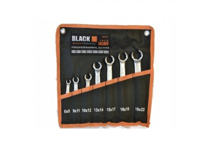 Sada obsahuje 7 kusů otevřených klíčů:  6x8 mm 9 x 11 mm 10x12 mm 13x14 mm 15x17 mm 16x18 mm 19x22 mm Zboží je nové a nepoužité, původně zabalené.