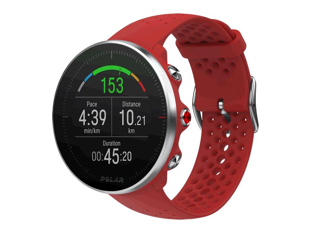 POLAR VANTAGE M - červená  Produkt z CZ distribuce s ovládáním v ČJ + tvrzené sklo na displej ZDARMA