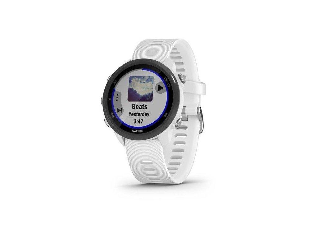 Garmin Forerunner 245 Music Optic White  Produkt z CZ distribuce s ovládáním v ČJ + tvrzené sklo na displej ZDARMA