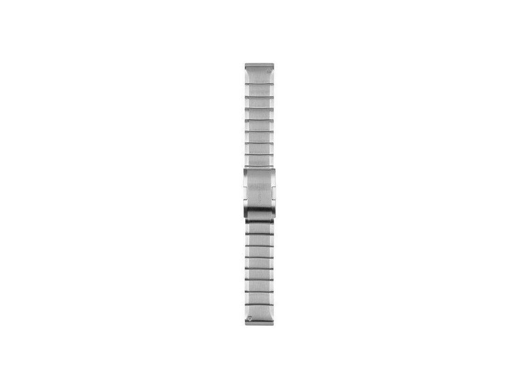 Řemínek pro fenix5/Quatix5/Forerunner 935 - QuickFit 22, ocelový, světle šedý