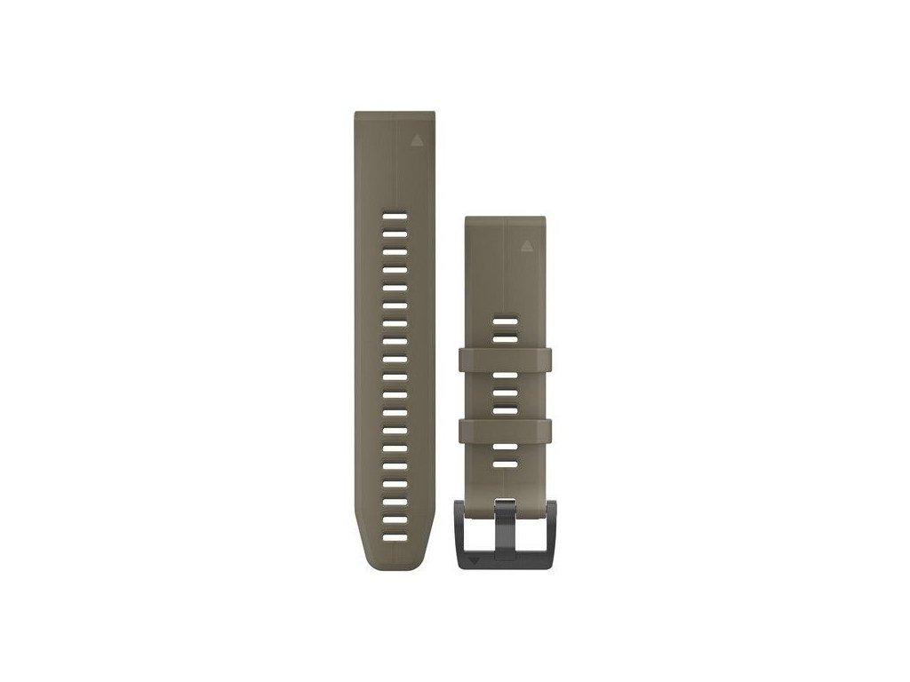Řemínek QuickFit 22, silikonový, khaki