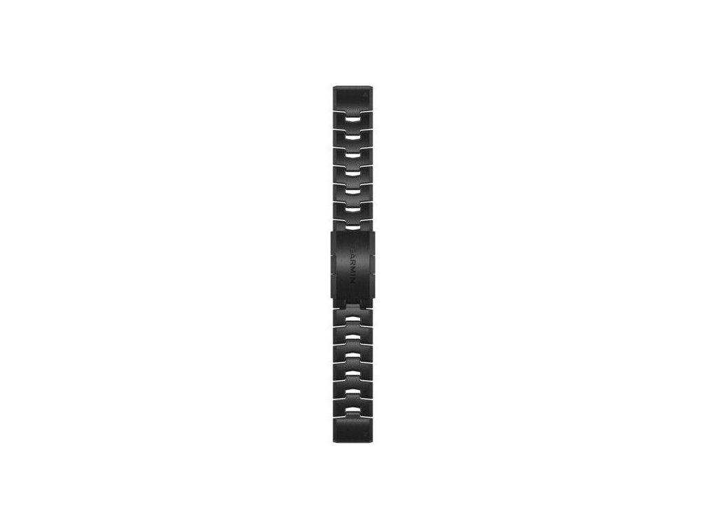 Řemínek pro fenix6 - QuickFit 22, titanový DLC, tmavý